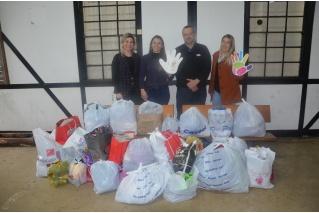 Certel doa agasalhos à Assistência Social de Teutônia