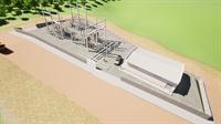 Projeção em 3D da nova subestação