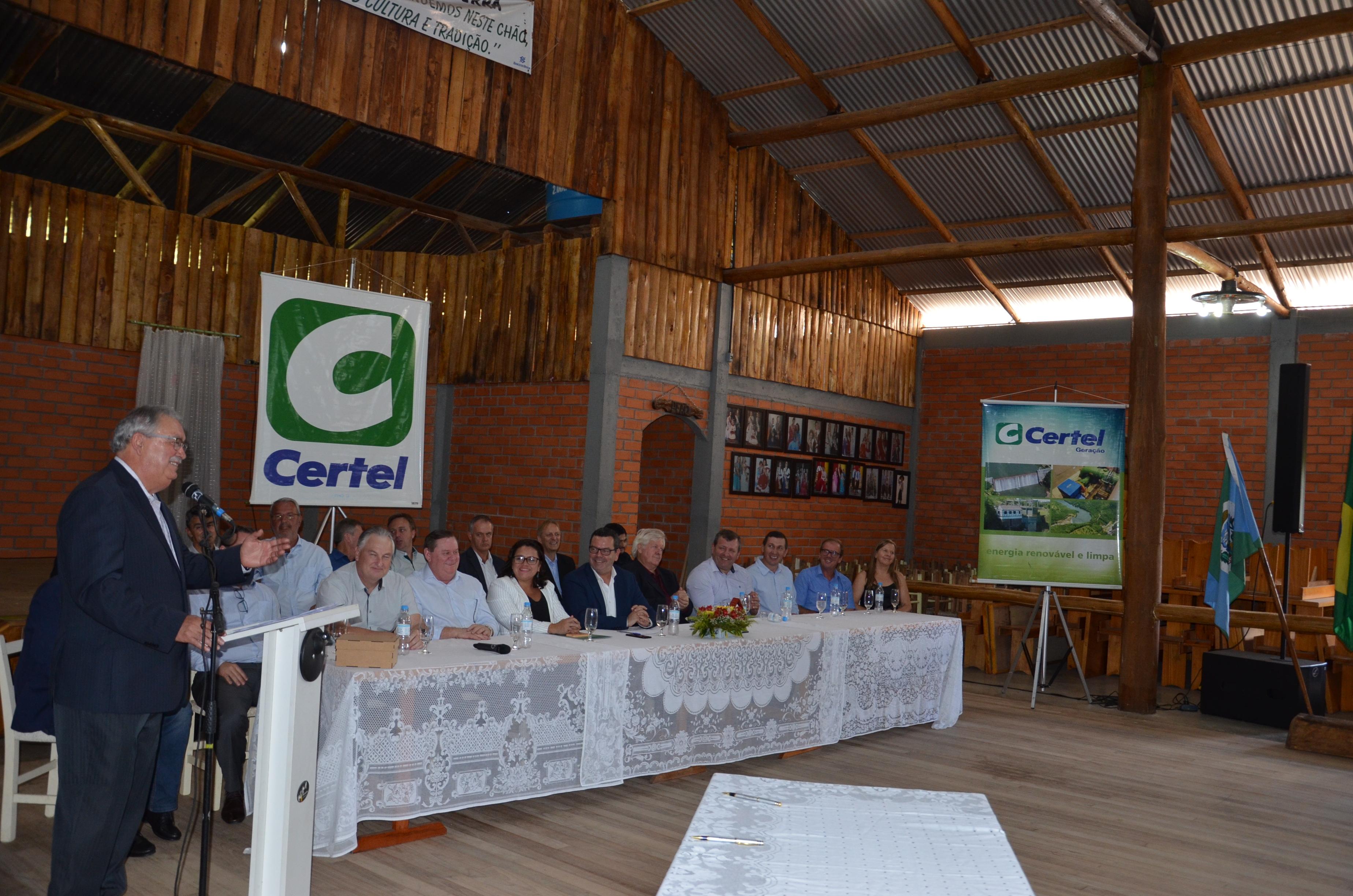 Lançamento de projeto hidrelétrico marca os 64 anos da Certel