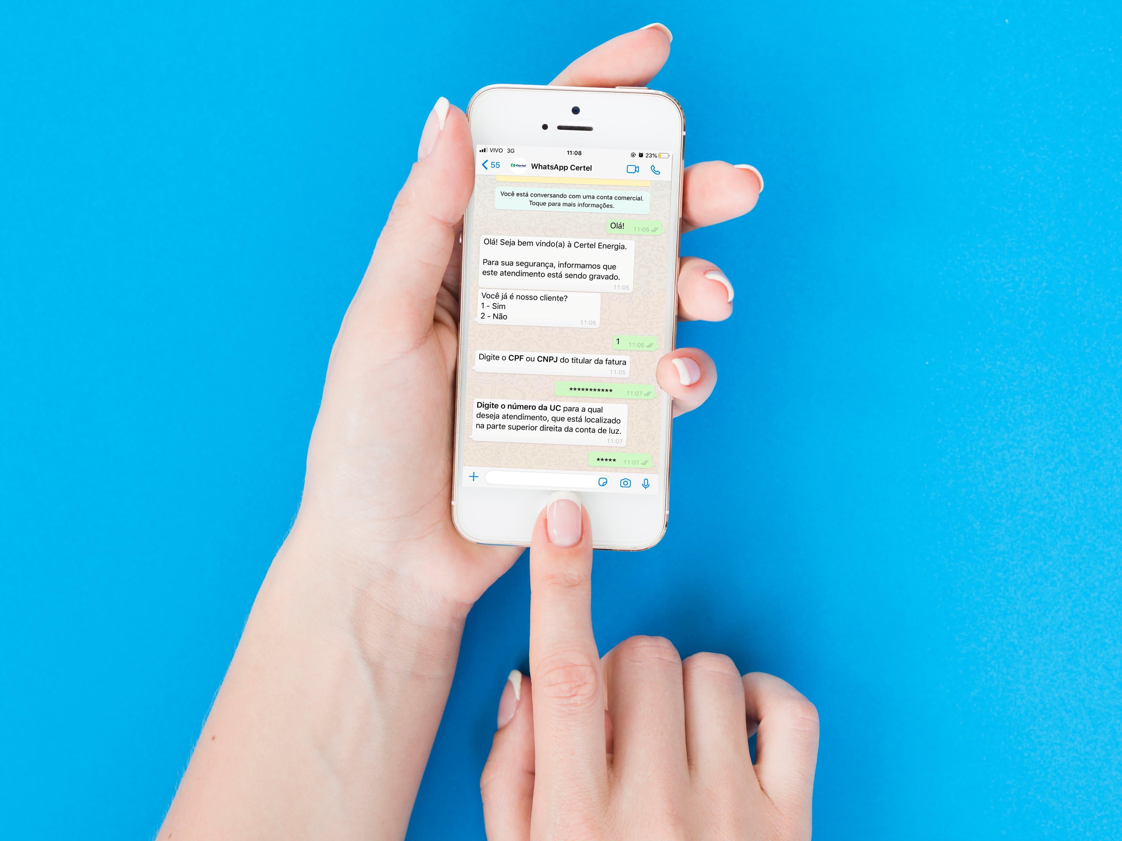WhatsApp Certel Energia é sucesso entre associados