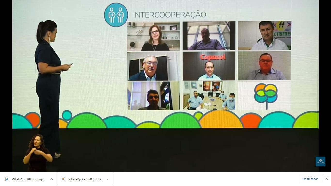 Cooperativas participantes da categoria Intercooperação